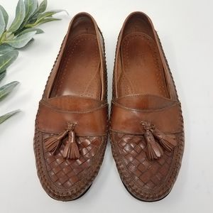 BASS Leather Tassel Loafers 10M